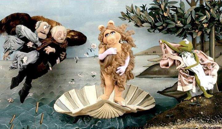 El nacimiento de Venus según los muppets.