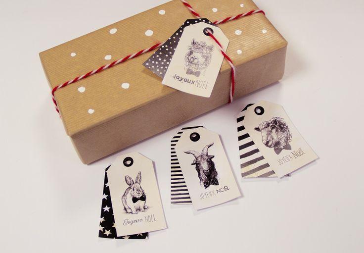 Étiquettes de Noël à télécharger – Julypouce tricote