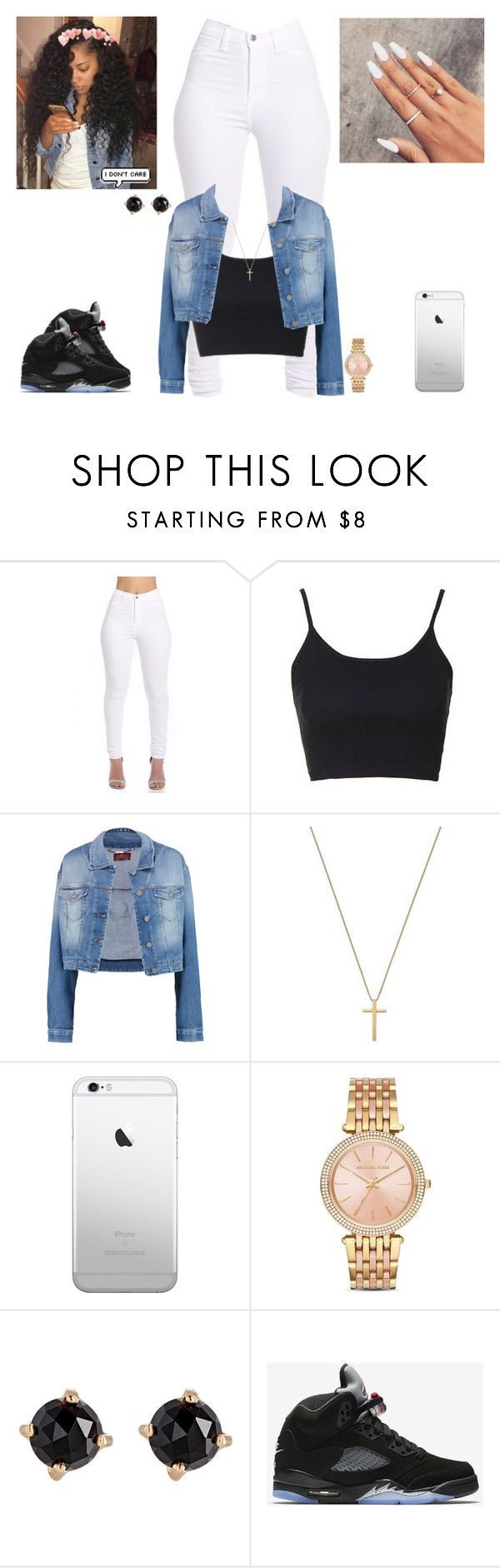 """❣❣❣"" by kira101-101 ❤ liked on Polyvore featuring Topshop, 7 For All Mankind, Gucci, Michael Kors, Irene Neuwirth and NIKE"