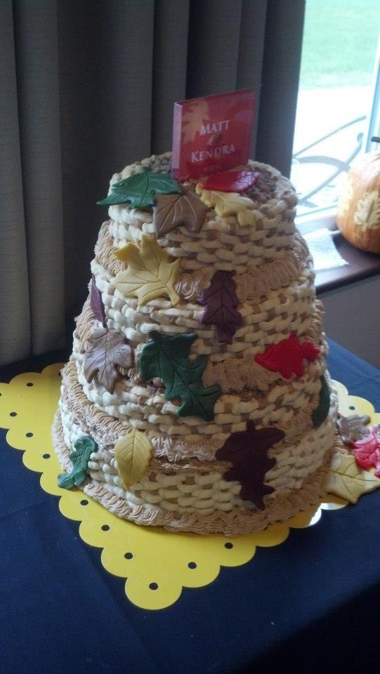 Matt and Kendra's wedding cake Oct. 2012