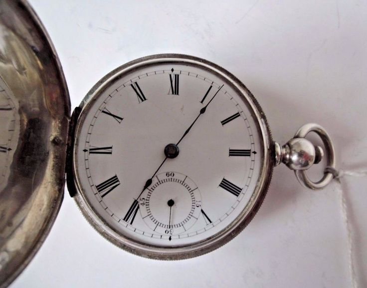 A.W.Co. Key Wind Pocket Watch Sterling Silver Hunting Case low Serial#1658747  #AWCBroadwayWalthamWatchCo