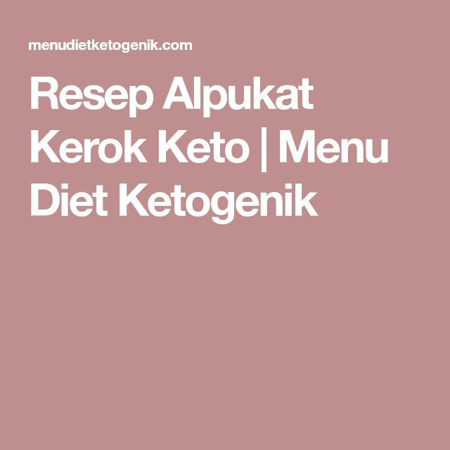 Resep Alpukat Kerok Keto | Menu Diet Ketogenik