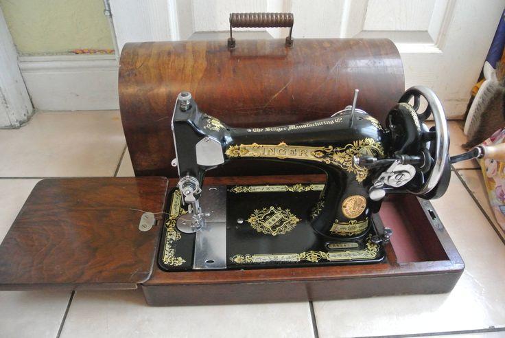 Antique Singer 28K Hand crank sewing machine by ZionVintageCrafts on Etsy