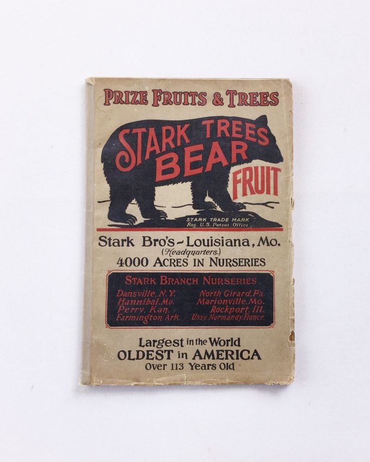 Vintage Stark Brothers Seed Fruit Tree and Shrub Catalog 1927 by GardenBarn on Etsy https://www.etsy.com/listing/233879173/vintage-stark-brothers-seed-fruit-tree