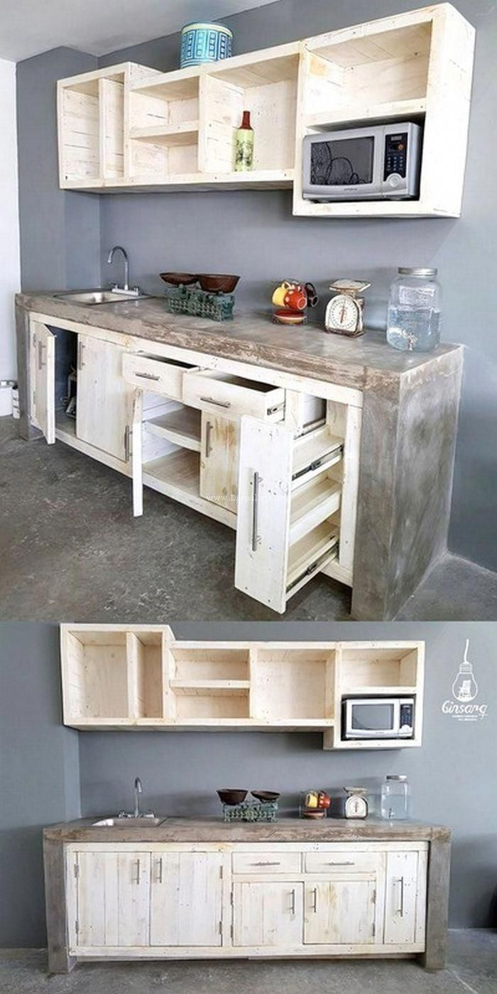11+ Prodigious Chest of Drawers from Wooden Pallets Ideas