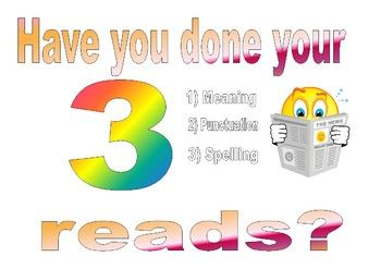 Three Reads - Editing Poster