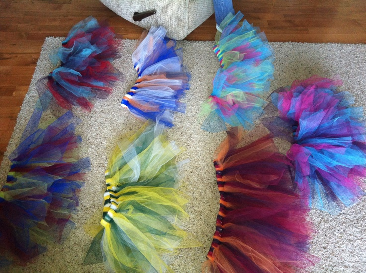 Color Run Tutu's - so easy to make!!!