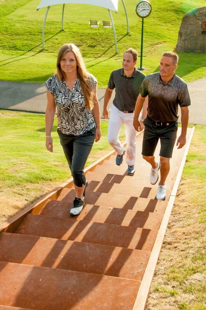 Golf men and women sportswear. Bridging function and fashion on and off the links.