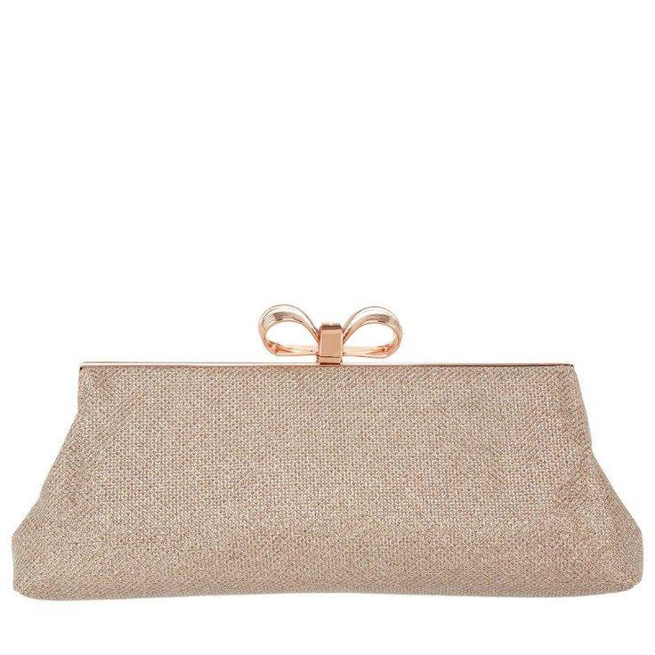 Ted Baker Ted Baker Tasche – Iirene Glitter Bow Evening Bag Rosegold – in rosa – Abendtasche für Damen