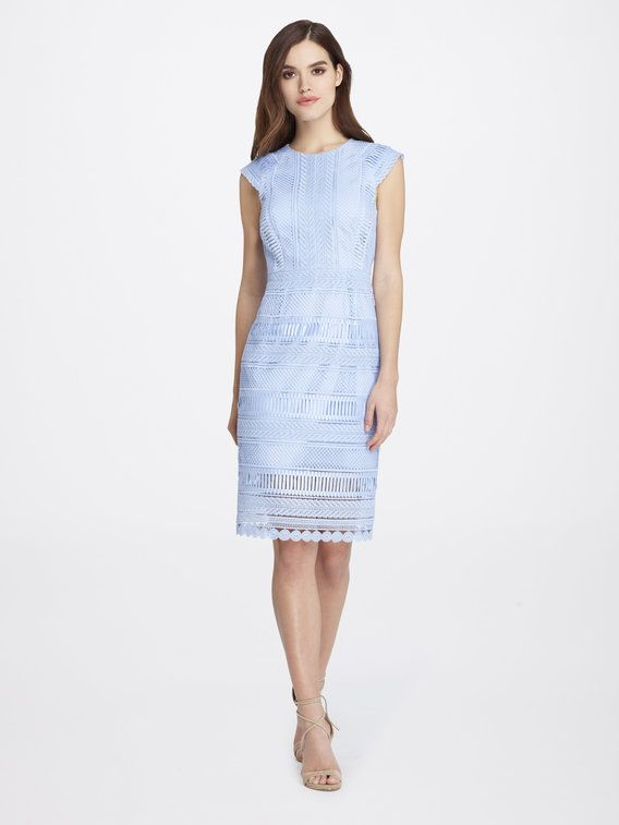 f24a1785 Check out Chemical Lace Pegged Sheath Dress from Tahari ASL ...