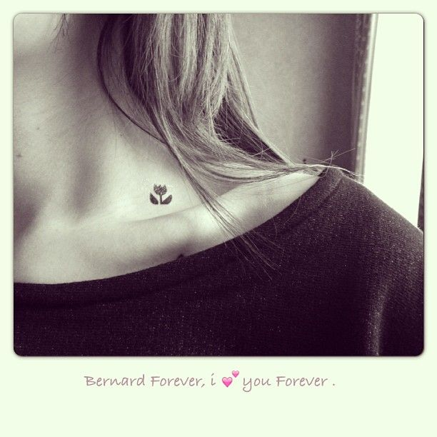 Photo by theperlinette - Tatouage éphémère - La tulipe - http://www.bernardforever.fr/