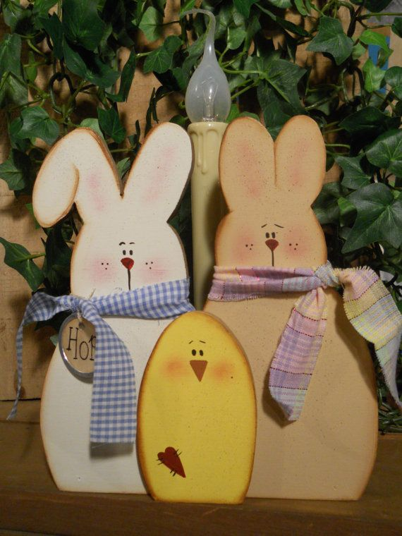 Bunny Easter Spring chick candle SFOFG by Rosiedais on Etsy