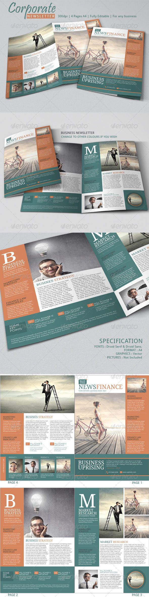 Newsletter Ideas | Indesign template of Newsletter Examples, easy to edit Newsletter Template.