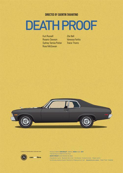 """""""Cars and films"""", Jesús Prudencio revisite les affiches de films avec des véhicules"""