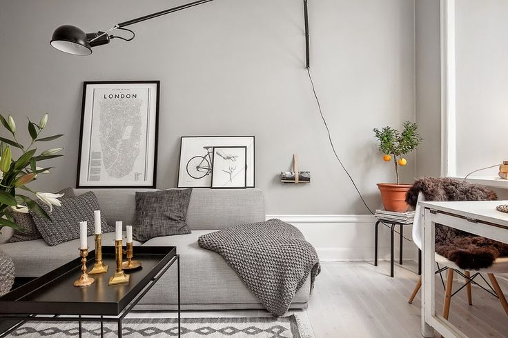 my scandinavian home: Shades of grey in a small living space