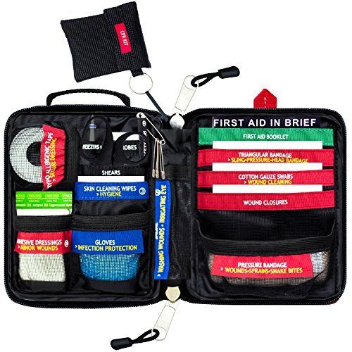 Adventure Aid First Aid Kit - Compact And Lightweight - Ideal For Sport like Camping, Home, Car, Travel & Workplace (included a First Aid Guide)  WELL ORGANIZED & CLEARLY LABELLED : Our First Aid Kit is organized to reduce stress levels and improve reactivity during emergencies. Every component is labelled, telling you what the item is and what it should be used for. Therefore, you will be able to find quickly what you need and refill it more easily.  FIRST AID BOOKLET (included) : We have…