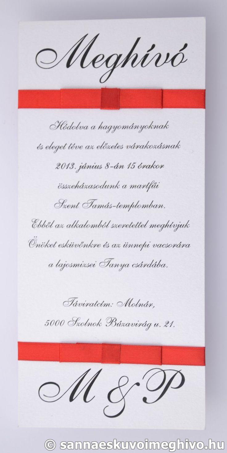 Lollipop esküvői meghívó, meghívó, piros esküvői meghívó, szalagos esküvői meghívó, sannaeskuvoimeghivo, egyedi esküvői meghívó, wedding card