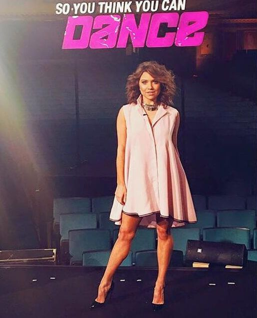 American star Jenna Johnson wore a dress by Ukrainian designer Anastasiia Ivanova! #sothinkyoucandance