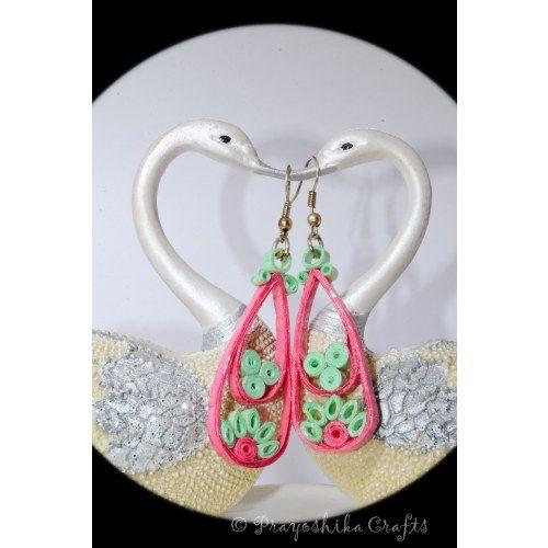 Pink color beautiful earrings...