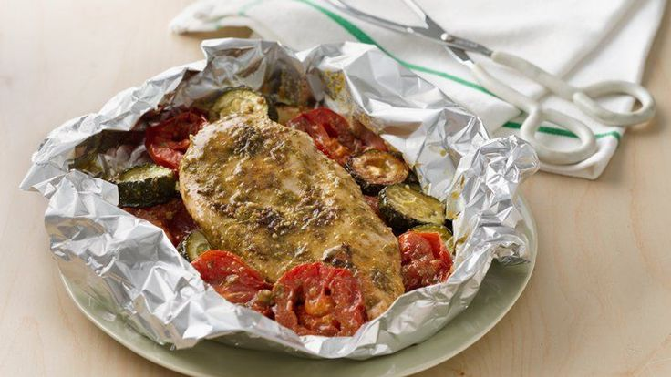 Grilled Pesto Chicken Packets Good things come in small packages... and this main dish is no exception!