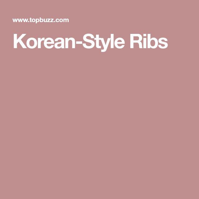 Korean-Style Ribs