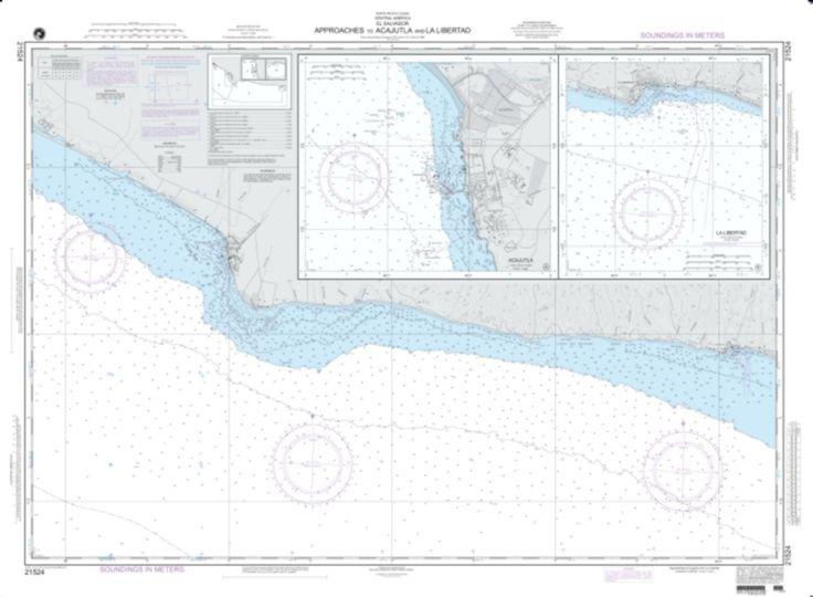 Approaches To Acajutla And La Libertad (NGA-21524-3) by National Geospatial-Intelligence Agency