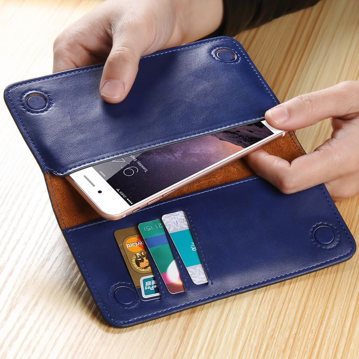 100% Real Leather Wallet Pouch Luxury Bags Case For Samsung S7 S6 S5 for iPhone 7 6 6S Plus se 5S 5 Soft Cover Purse Retro