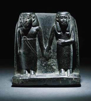 Steatite stele of a husband and wife. Middle Kingdom. 12th dynasty. 1991-1783 B.C. | Christie's