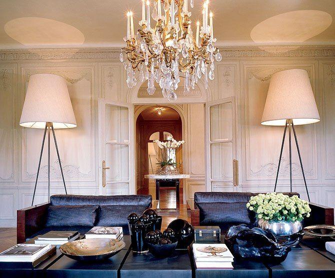 Havens South Designs :: Loves The Oversized Floor Lamps In Elie Saabu0027s Paris