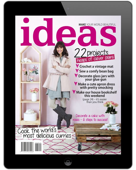 Read Ideas digitally and pay only R288 for 12 issues! If you have family and friends overseas don't forget to share this link with them so they can also be the first each month to see what new creative inspiration we have for you.