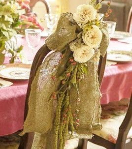 Burlap Chair Sash - Chair Swag - Boho Wedding Chair Sash - Rustic Wedding Chair Sash - Burlap Chair Sash - Set of 10 by AJRUSTICCREATIONS on Etsy https://www.etsy.com/listing/176674713/burlap-chair-sash-chair-swag-boho