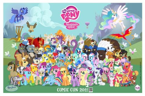 My little pony friendship is magic group shot r - List of My Little Pony: Friendship Is Magic characters - Wikipedia, the free encyclopedia