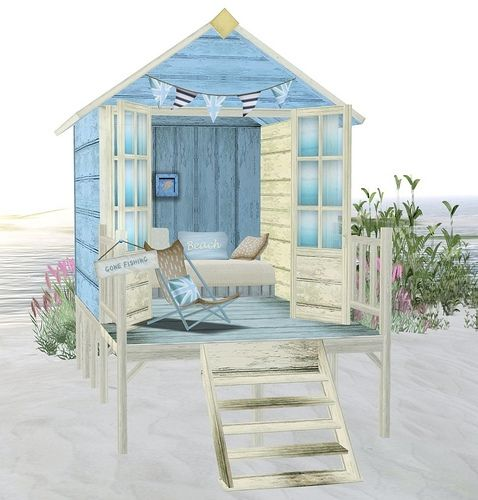 90 best beach huts outhouses images on pinterest for Beach hut style interiors