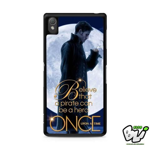 Once Upon A Time Captain Hook Sony Experia Z3,Z4,Z5,C3,C4,E4,M4,T3 Case,Sony Z3,Z4,Z5 MINI Compact Case