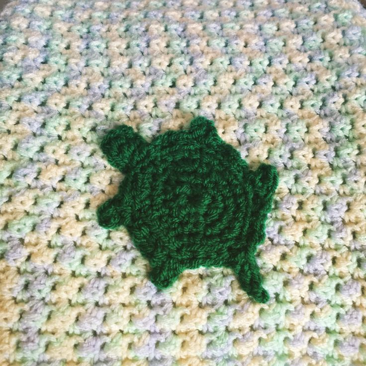 Crochet turtle blanket