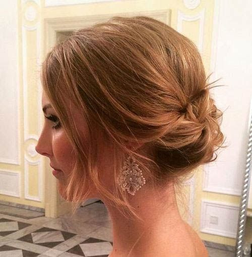 Best 25 shoulder length updo ideas on pinterest curly hair updo 31 wedding hairstyles for short to mid length hair pmusecretfo Image collections