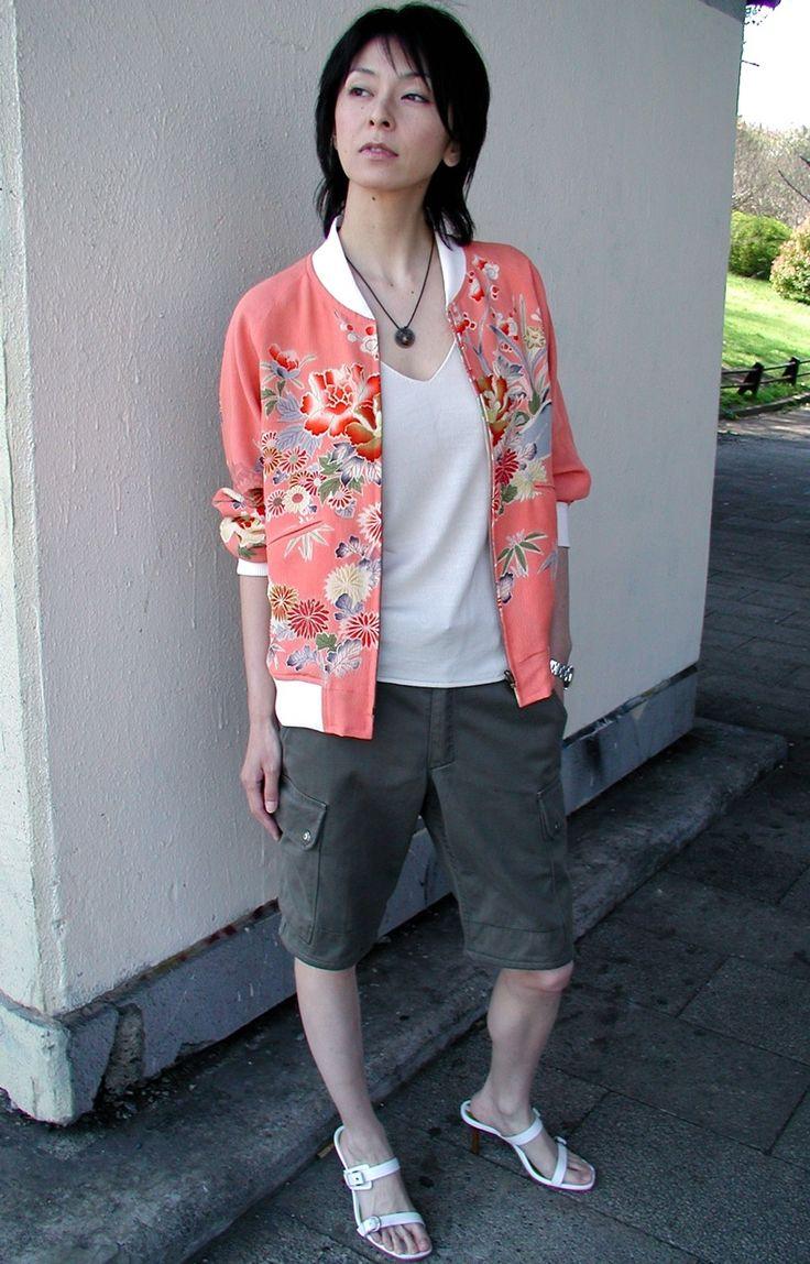「スカジャン2号」・鴛鴦刺繍縞花丸模様 | スカジャン2号 | Shop