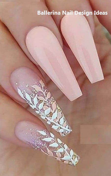 Trendy Ballerina Nail art 2019 #ballerinanails #nailart