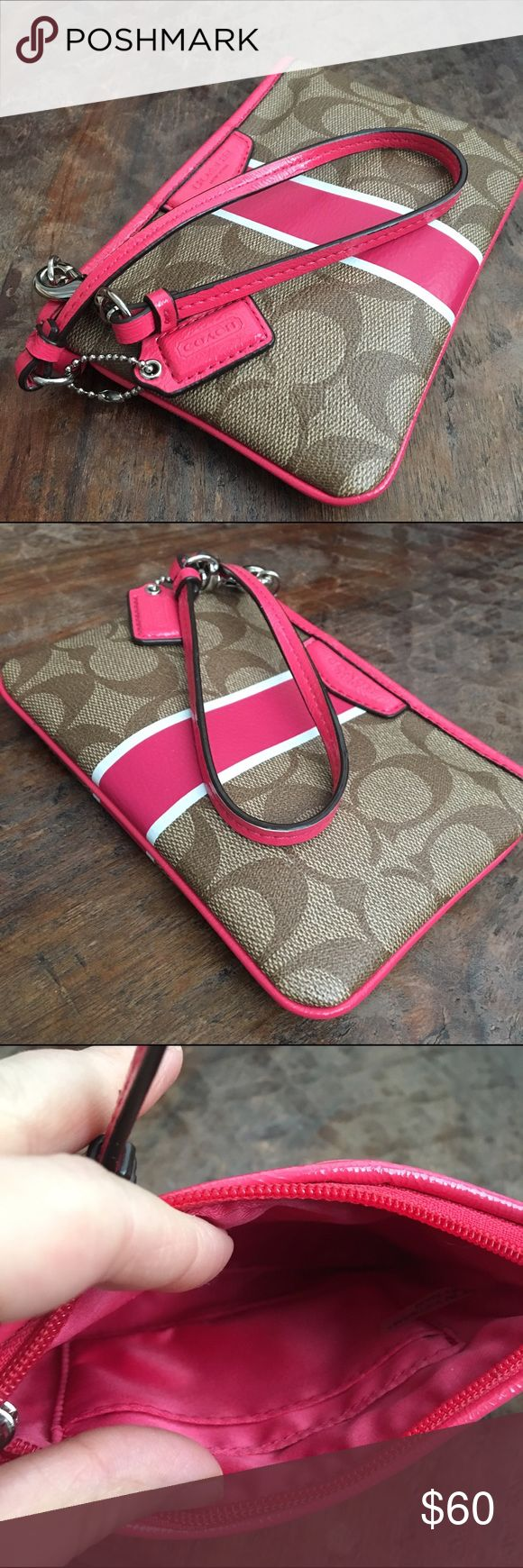 NWOT Coach wristlet wallet. NWOT Coach wristlet. Never used. Beautiful color and in perfect condition.                    ⭐️Bundle to save.                                                  ⭐️Ships out same day(unless weekend purchase).                                                               ⭐️Smoke free home Coach Bags Wallets