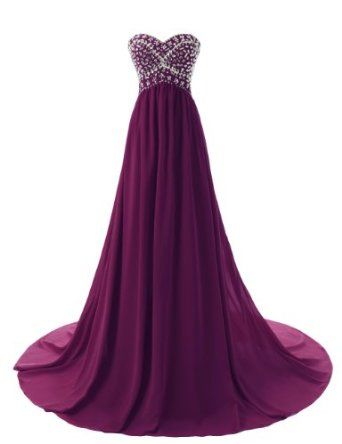Dressystar Long Sweetheart Bridesmaid Prom Dresses Chiffon Evening Gowns