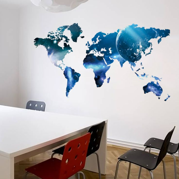 World Map Space Wall Sticker //Price: $14.63 & FREE Shipping //     #wallsticker