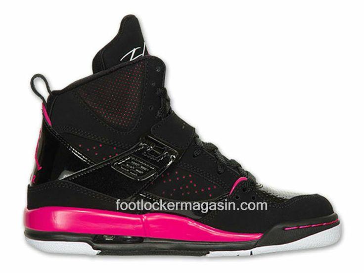 Jordan Flight 45 High GS (2013 Release) - Chaussure Montante Femme Jordan Flight 45 High Gs Noir/Vivid Pink - Blanc, Style - Couleur # 524864-017