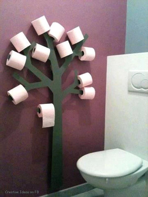 Never run out of toilet paper again...
