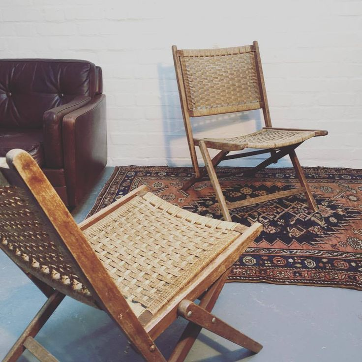 After a project!? Pair of Wicker Folding Chairs // £50 (some loose strands & a split on the frame but still awesome!)