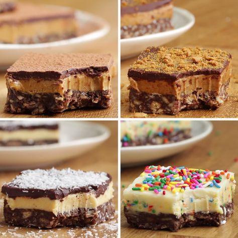 Nanaimo Bars Four Ways (Canadian Chocolate Bars)