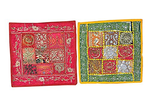 2 Indian Cushion Cover Vintage Patchwork Pillow Case Tapestry Throw Yoga Decor Mogul Interior http://www.amazon.com/dp/B00VHX98K2/ref=cm_sw_r_pi_dp_UN9gvb02DA7N9
