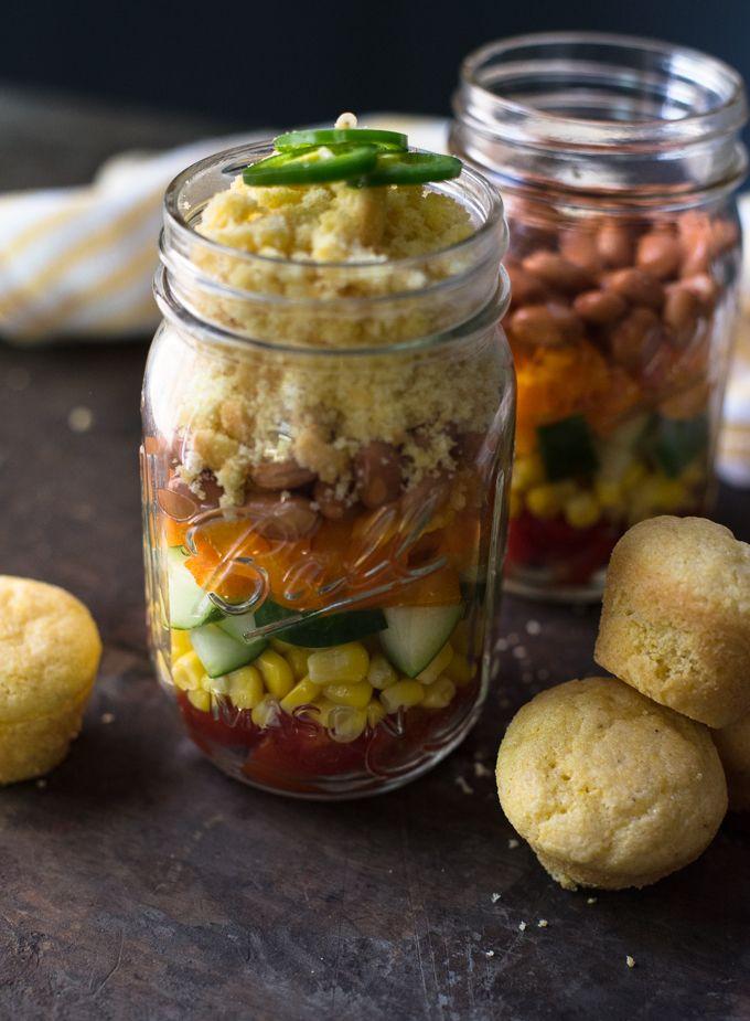 Layered Cornbread Salad // OakhurstKitchen.com