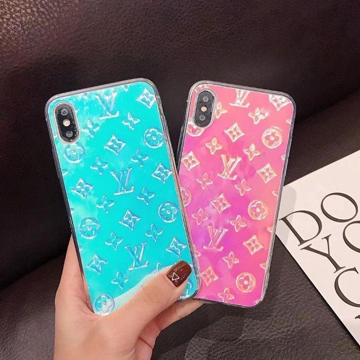 Lv holographic phone case pop socket lsimone iphone