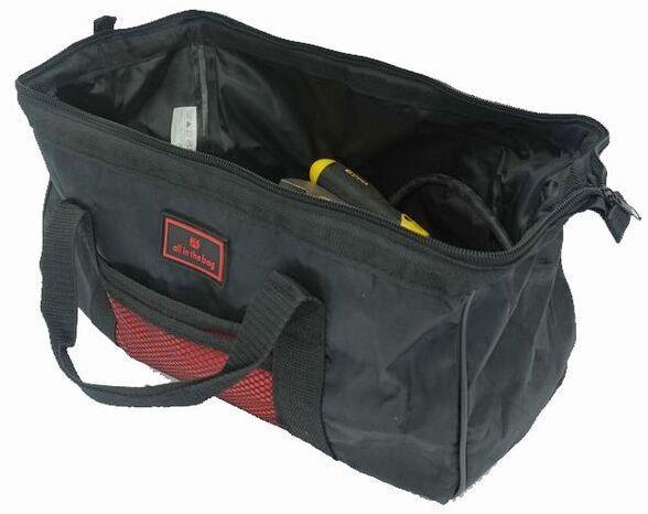 Wide Mouth Black Red Cloth Tool Bag Electrician Chisel Tool Premium Repairing Utility Bags Portable Handbag Soldering