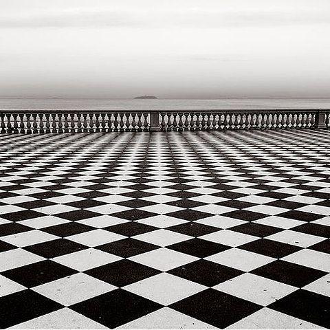 Terrazza Mascagni, Livorno, ItalyBlackandwhite, Squares, White Photography, Floors, Opart, Black And White, Black White, Tuscany Italy, Op Art